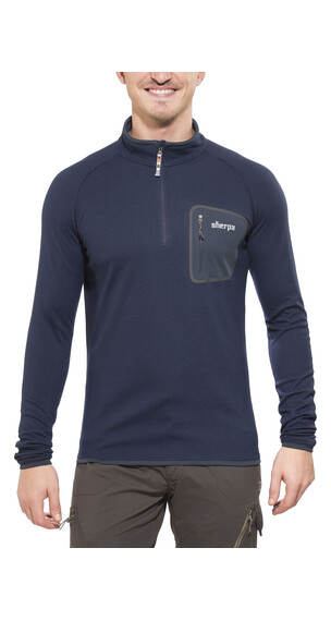 Sherpa Tsepun - Sweat-shirt Homme - Zip bleu